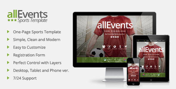 ThemeForest allEvents Sports Muse Template 11275182