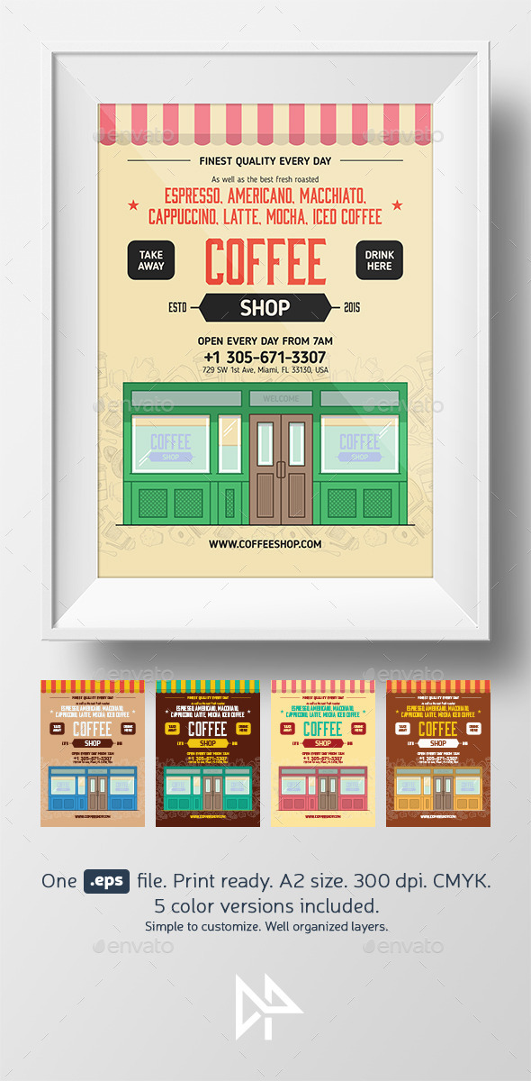 GraphicRiver Coffee shop poster template 11275223