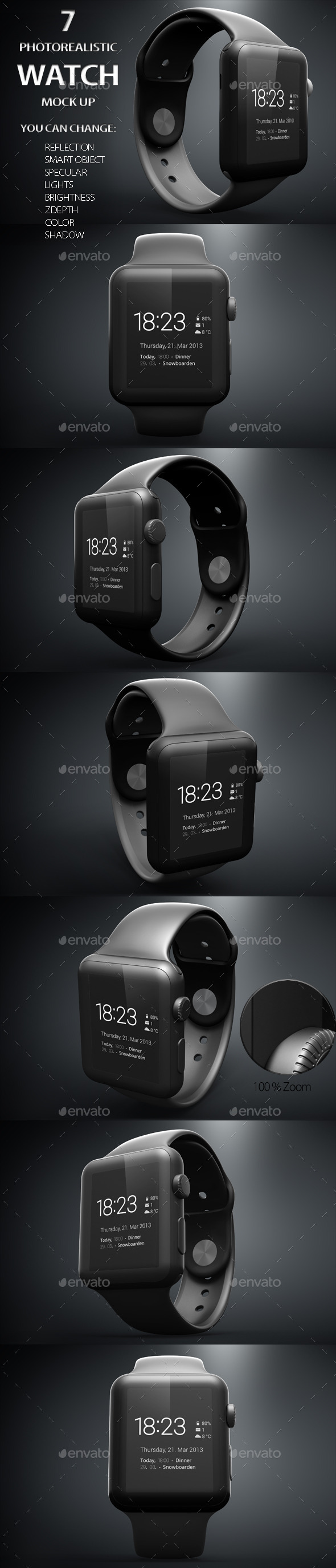 GraphicRiver iWatch Mockups 11275480