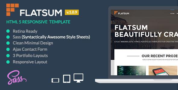 FlatSum - Minimal HTML5  Portfolio Template - Creative Site Templates