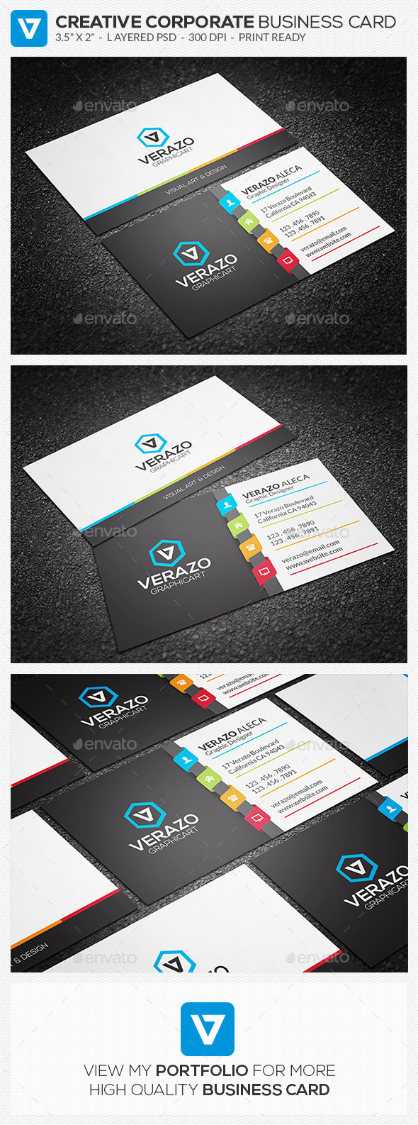 GraphicRiver Creative Corporate Business Card 80 11275622