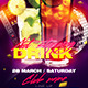 Not Stopping Drink Flyer - GraphicRiver Item for Sale