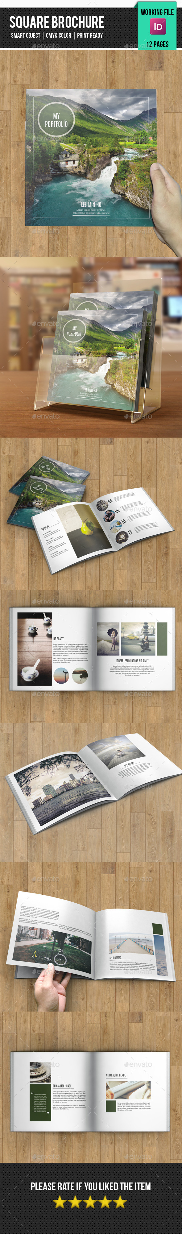 GraphicRiver Square Bifold Brochure for Portfolio-v20 11275811