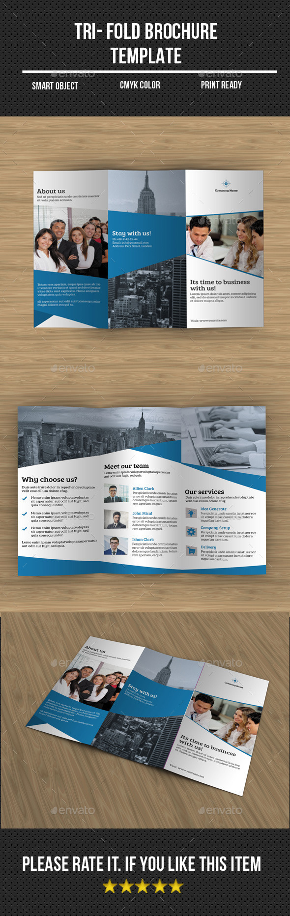 GraphicRiver Corporate Tri- Fold Brochure 11275824