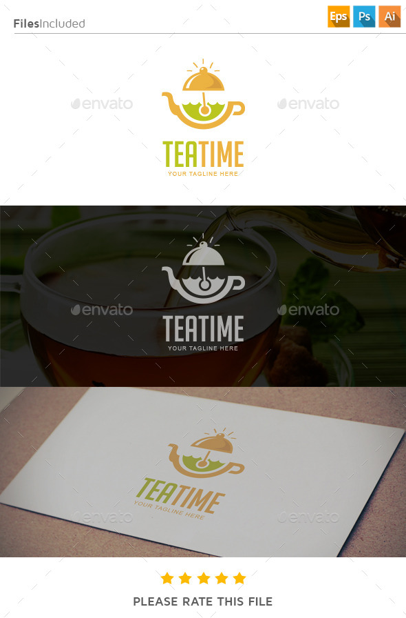 GraphicRiver Tea Time Logo 11275825