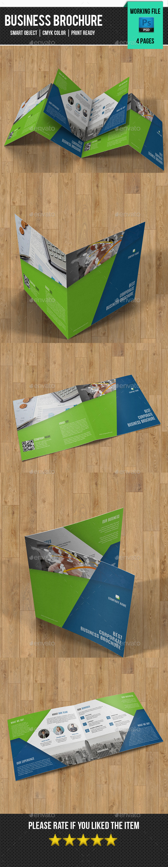 GraphicRiver Corporate Square Bifold Brochure-V21 11275854