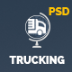 Trucking Transportation and Logistics PSD Template