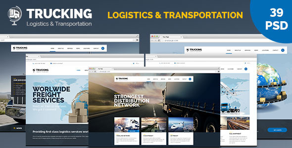 ThemeForest Trucking Transportation and Logistics PSD Template 11275857