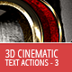 3D Cinematic Text Generator 3 - Actions - GraphicRiver Item for Sale