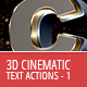 3D Cinematic Text Generator - Actions - GraphicRiver Item for Sale