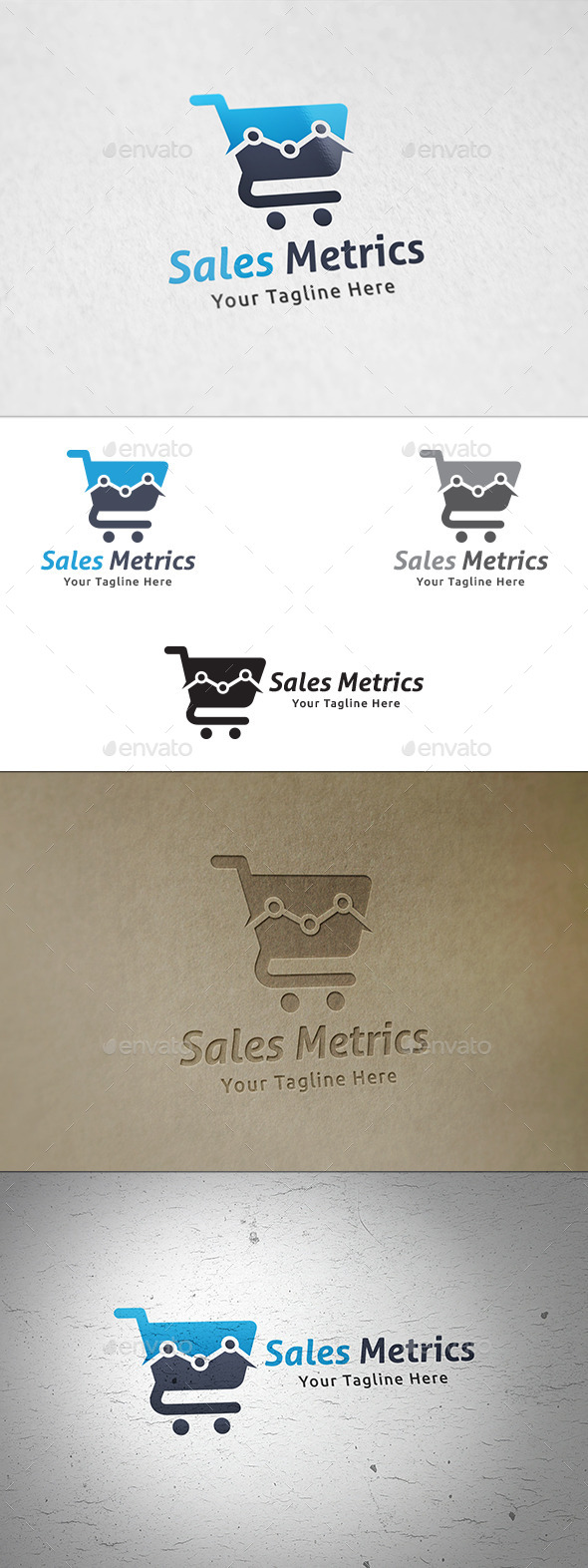 GraphicRiver Sales Metrics Logo Template 11275885