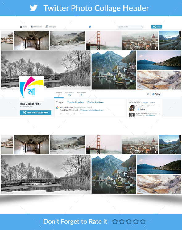 GraphicRiver Twitter Photo Collage Header 11275929