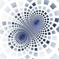 Abstract fractal blue square pixel mosaic illustration - PhotoDune Item for Sale