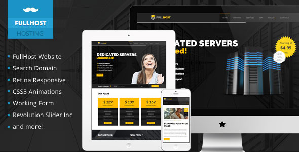 ThemeForest Fullhost Hosting Responsive Theme 11276255