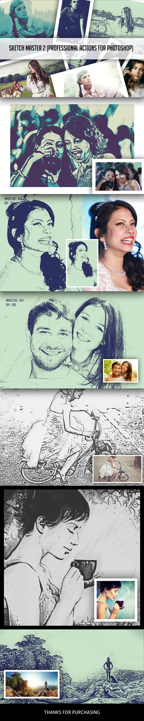 GraphicRiver Sketch Master 2 Photoshop Action 11276311