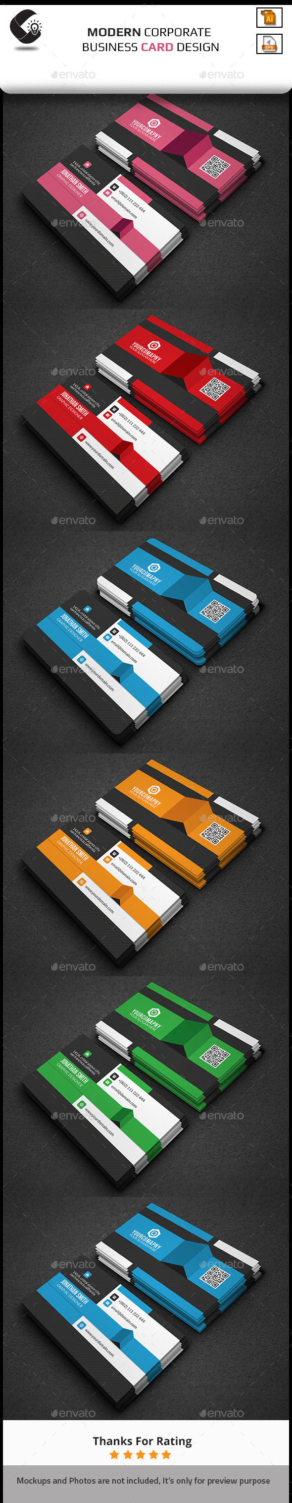 GraphicRiver Modern Corporate Business Card 11276538
