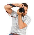 Young man with camera - PhotoDune Item for Sale