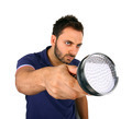 Man searching with flashlight. - PhotoDune Item for Sale