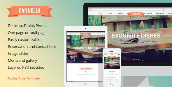 Cannella - Restaurant/Cafe Muse template - Miscellaneous Muse Templates