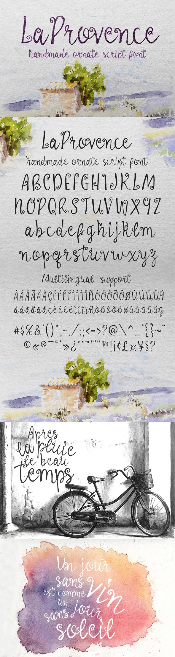 GraphicRiver La Provence Font 11277043