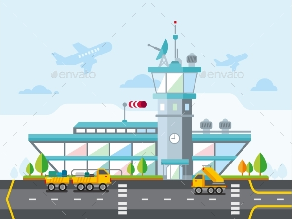 GraphicRiver Airport Modern Flat Design Illustration 11277121