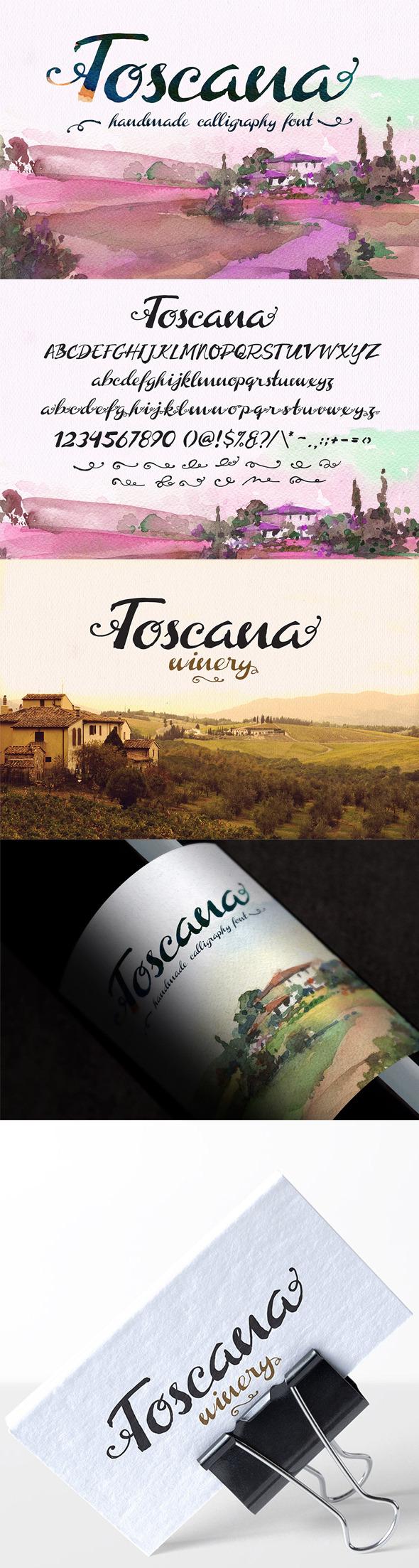 GraphicRiver Toscana Font 11277222