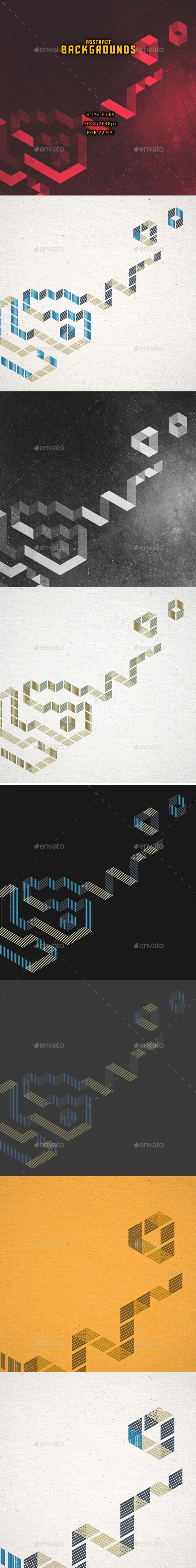 GraphicRiver Abstract Backgrounds Set 11277315