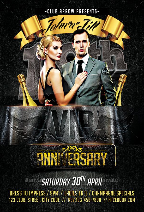 Birthday Bash Anniversary Flyer by Arrow3000 – Anniversary Flyer