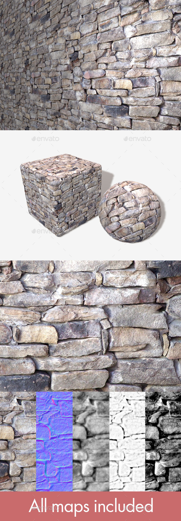 3DOcean Traditional Rock Wall Seamless Texture 11277539