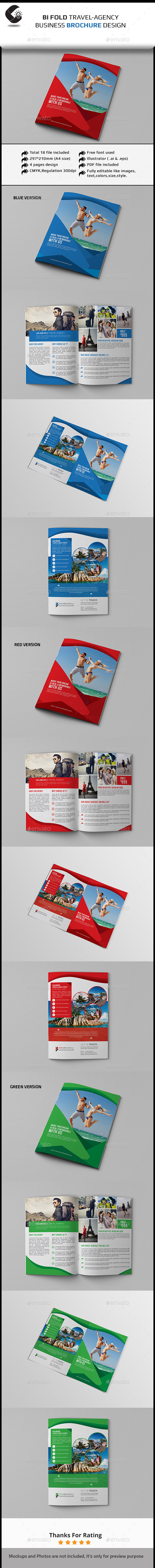 GraphicRiver Travel Agency Bifold Brochure Template 11277893