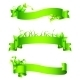 Green Empty Ribbons and Banners - GraphicRiver Item for Sale