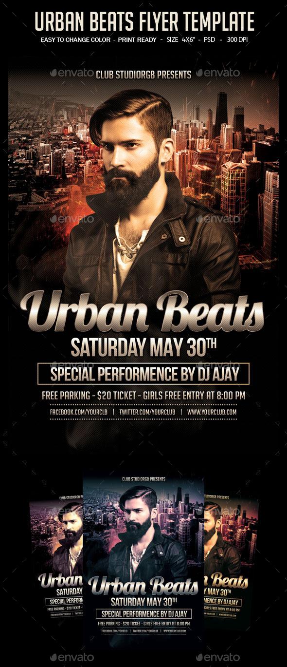 Urban Beats Flyer Template