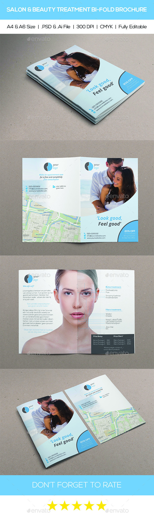 GraphicRiver Salon & Beaty Treatment Bi-Fold Brochure 11256800