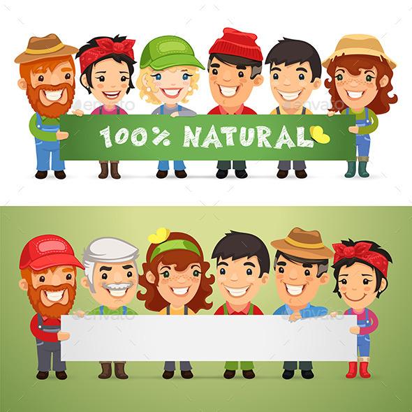 GraphicRiver Farmers Presenting Horizontal Banner 11269739