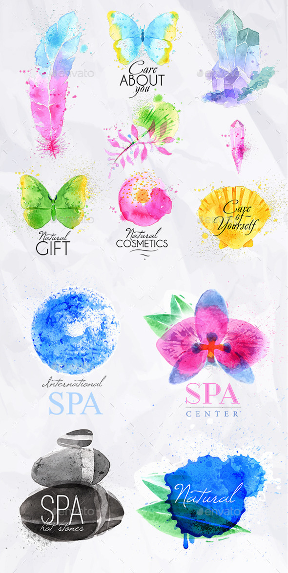 GraphicRiver Set Natural Spa 11279873