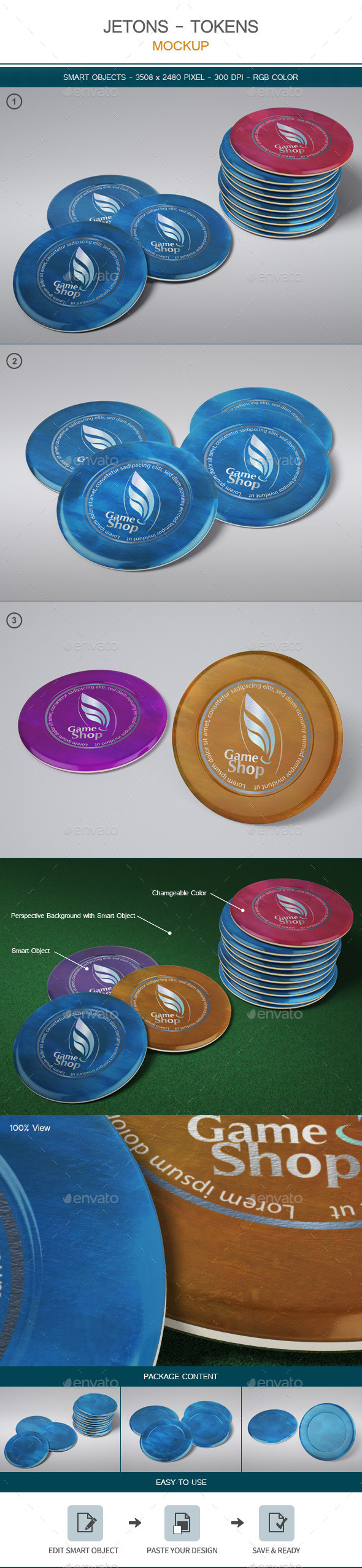 GraphicRiver Jetons Tokens Mock-up 11280061