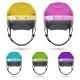 Ice Hockey Helmets With Visor, Isolated. - GraphicRiver Item for Sale