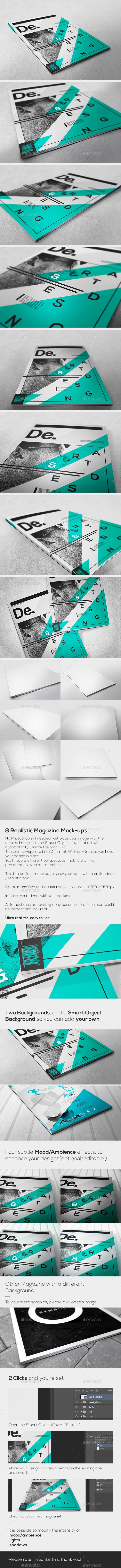 GraphicRiver Magazine Realistic Mock-ups 11280352