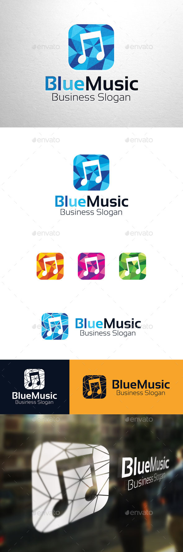 GraphicRiver Blue Music Logo 11280728