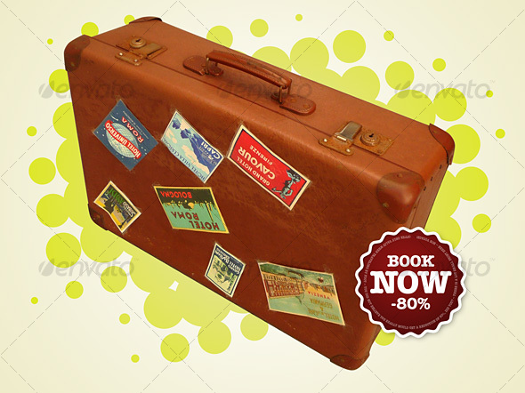 Retro Suitcase Comp - Miscellaneous Isolated Objects