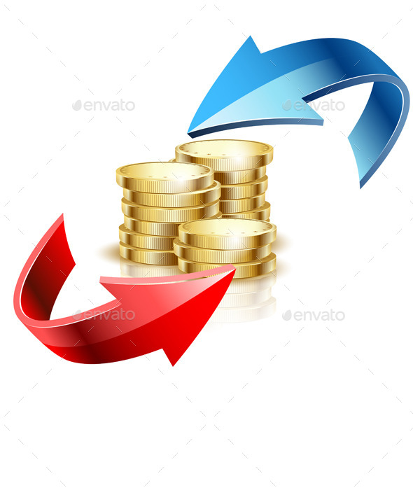 GraphicRiver Arrow and Gold Coins 11280824