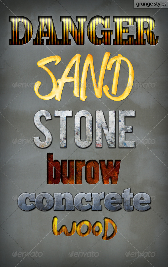 Grunge Styles - Text Effects Styles
