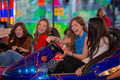 carnival bumper ride group of teens - PhotoDune Item for Sale