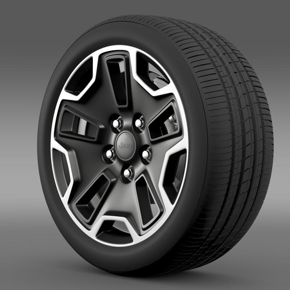 Jeep Wrangler Rubicon wheel - 3DOcean Item for Sale