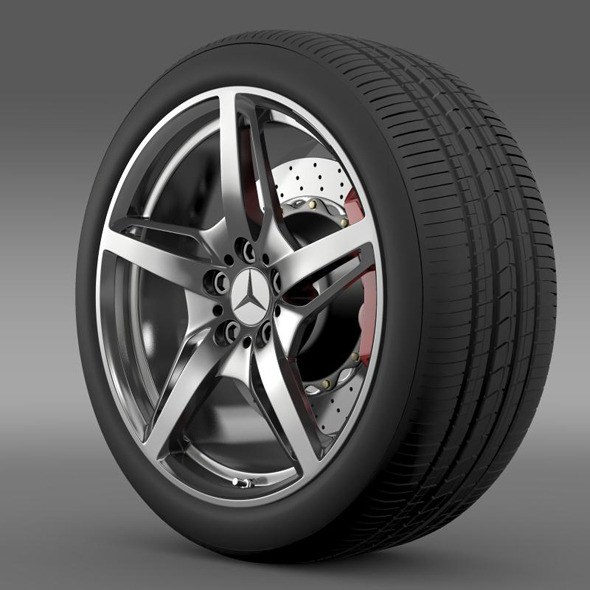 Mercedes Benz AMG GT S wheel - 3DOcean Item for Sale