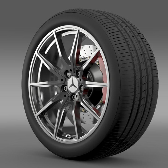 Mercedes Benz AMG GT wheel - 3DOcean Item for Sale