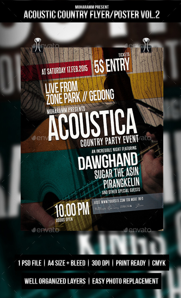 GraphicRiver Country Acoustic Flyer Poster 11281124