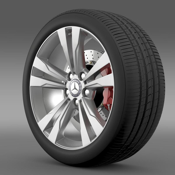 3DOcean Mercedes Benz S 350 wheel 11281126