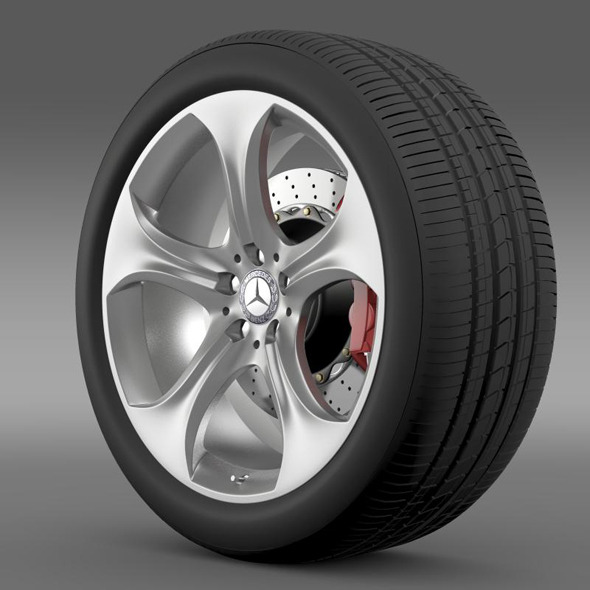 3DOcean Mercedes Benz S 400 hybrid wheel 11281138