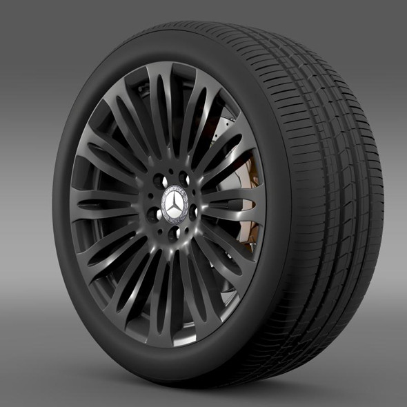 Mercedes Benz S 600 wheel - 3DOcean Item for Sale